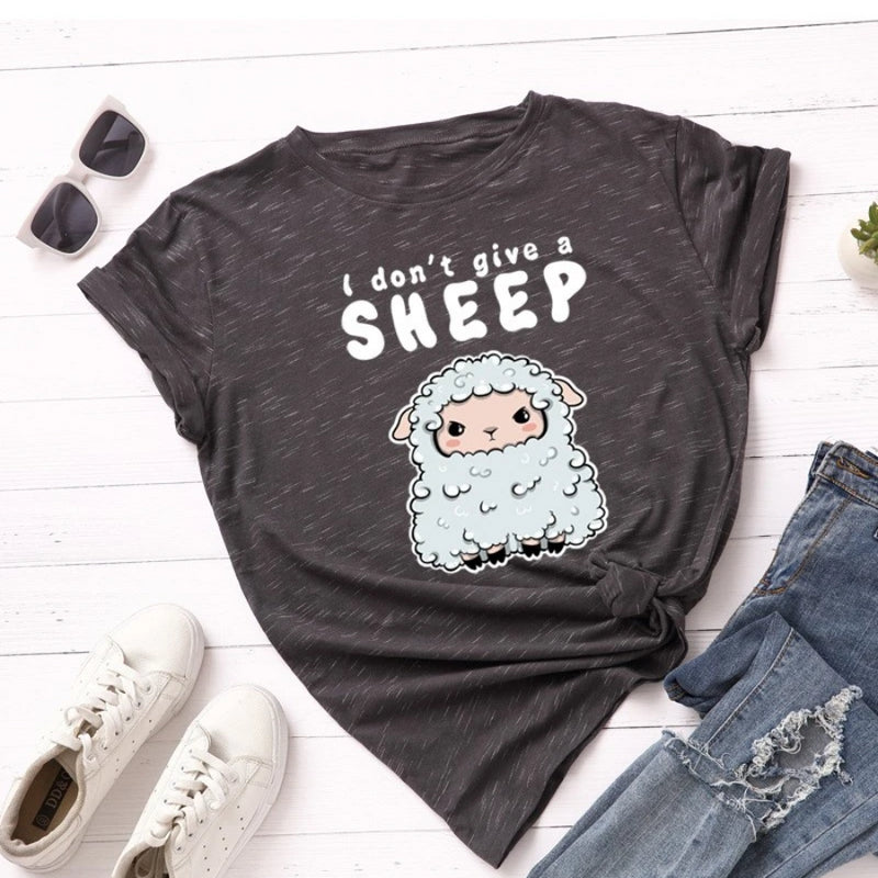 I Don't Give A Sheep Women's Novelty T-Shirt