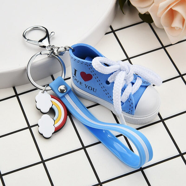 Mini Silicone Sneakers Key Ring