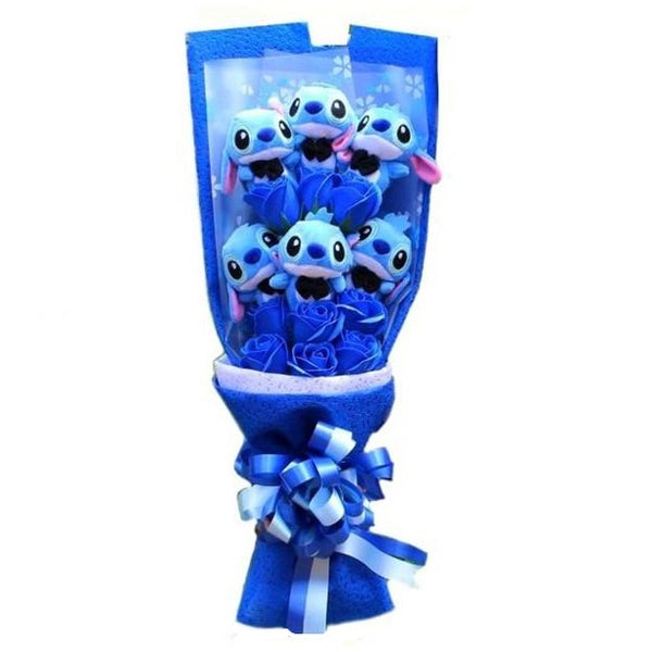 Cartoon Plushie Forever Rose Bouquet
