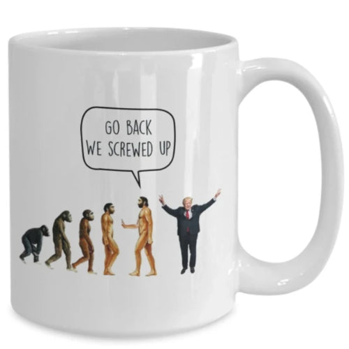 Evolution Anti-Trump Mug