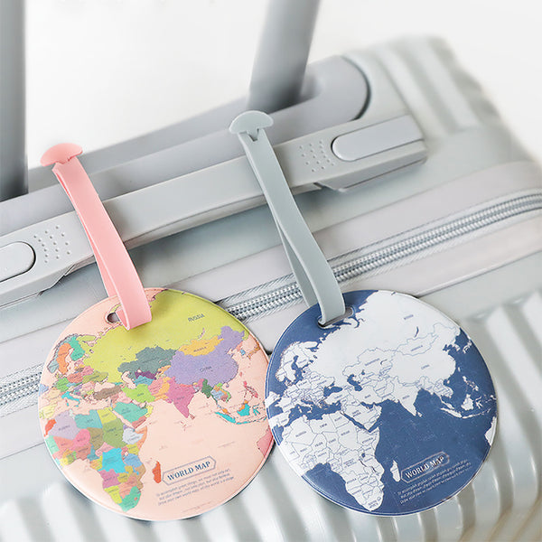 World Map Luggage Travel Tags