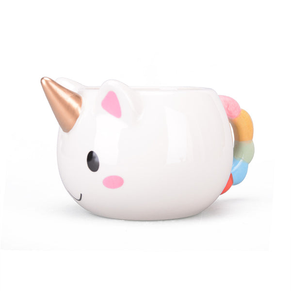 Hand Painted Rainbow Tail Unicorn Mug