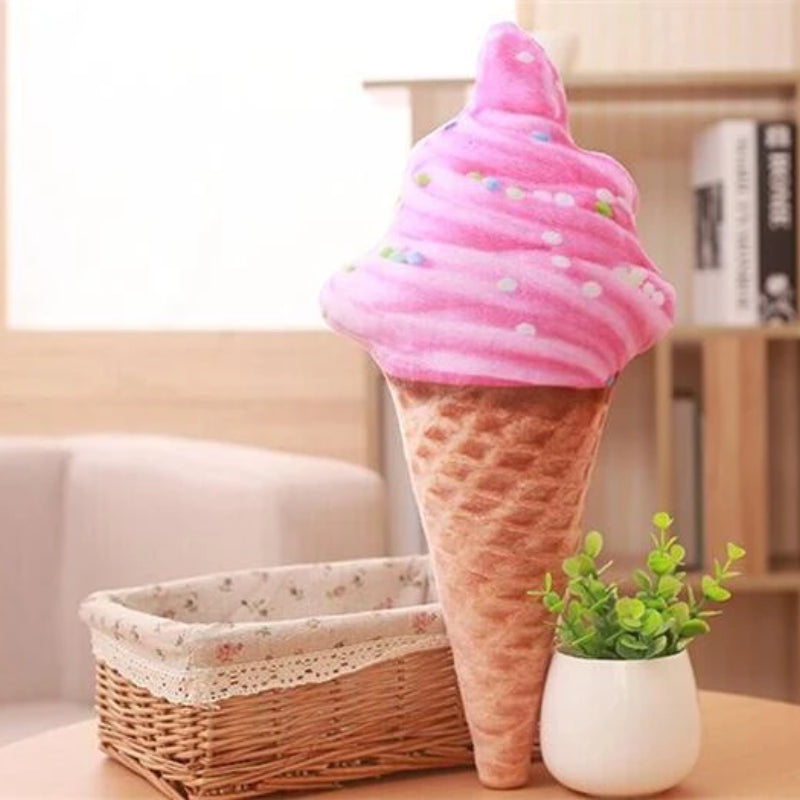 Sprinkles Ice Cream Cone Cushion