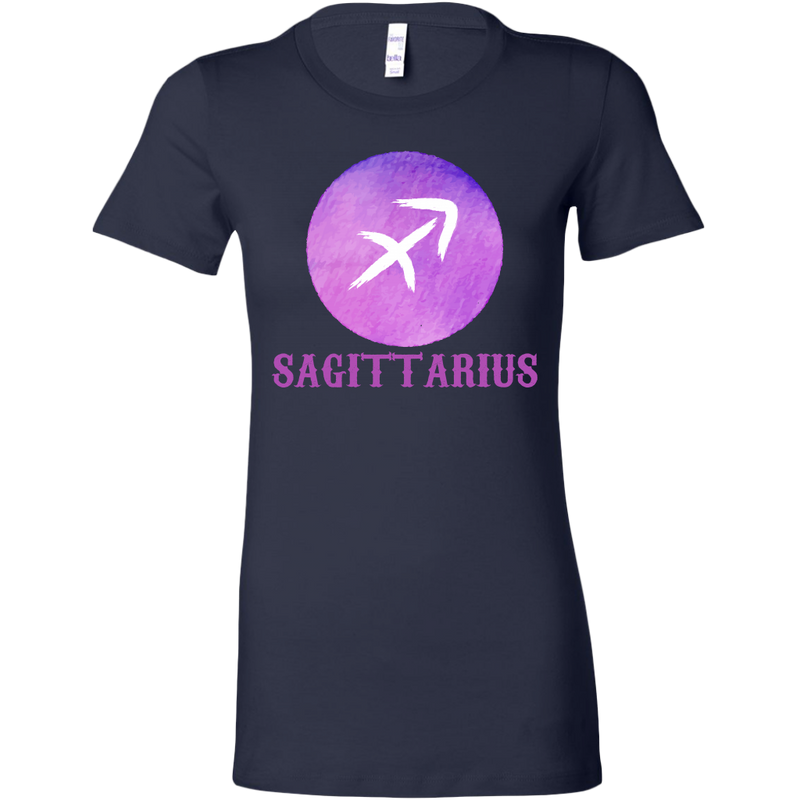 Sagittarius Purple Watercolor Zodiac Tee