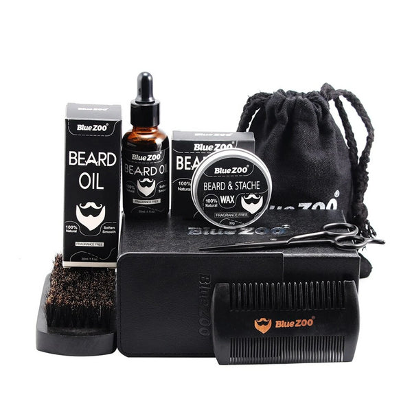 Canvas Bag Beard Grooming 7pcs Kit