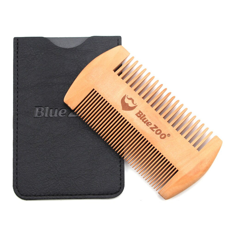 Gents Wooden Dual Beard Combs