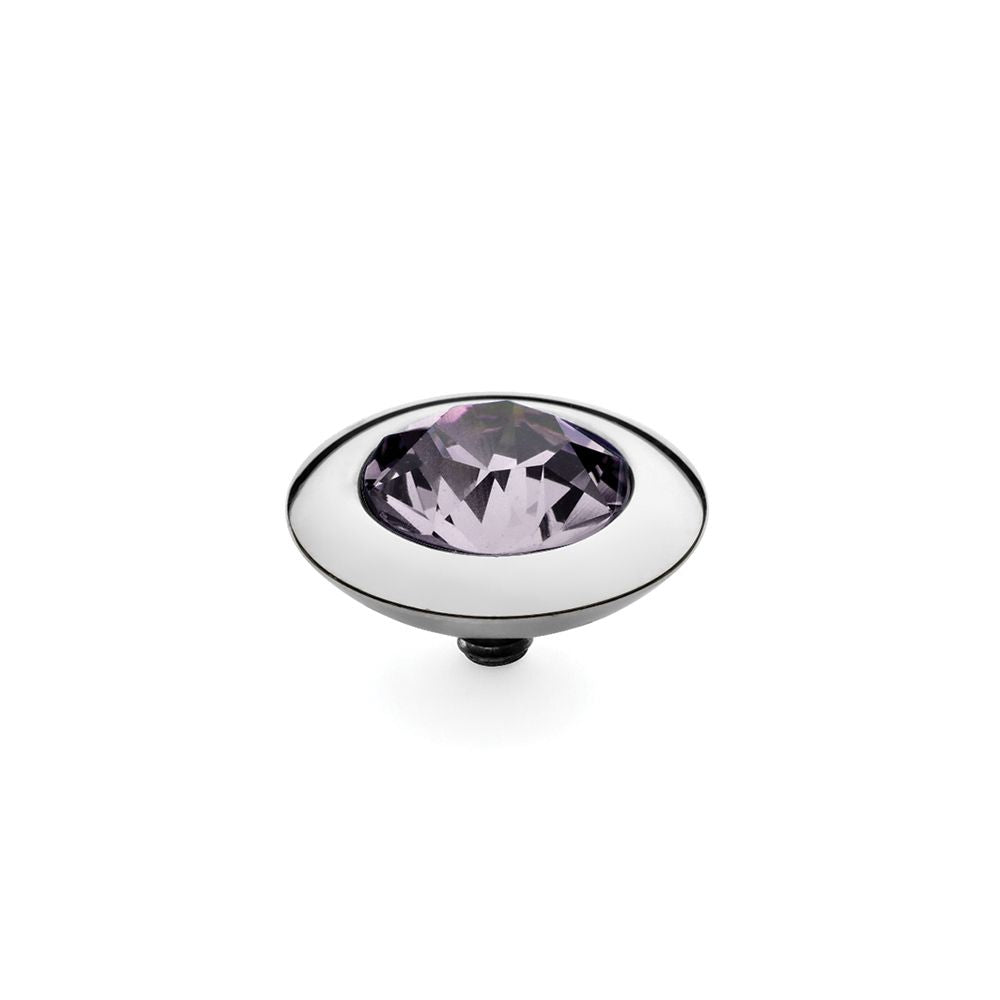 QUDO INTERCHANGEABLE TONDO TOP 13MM - VIOLET SWAROVSKI® CRYSTAL - STAINLESS STEEL