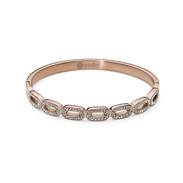 QUDO BRACELET - FOLLONICA - ROSE GOLD PLATED S/STEEL