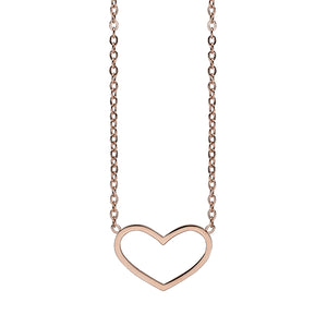 QUDO NECKLACE - CILENTO - ROSE GOLD PLATED S/STEEL