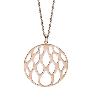 QUDO NECKLACE - SESTINO - ROSE GOLD PLATED S/STEEL