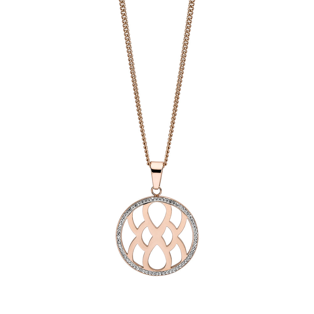 QUDO NECKLACE - CAROLE - ROSE GOLD