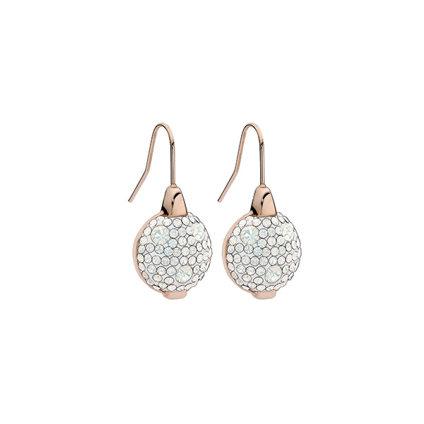 QUDO EARRINGS - LEVANTO - ROSE GOLD PLATED S/STEEL