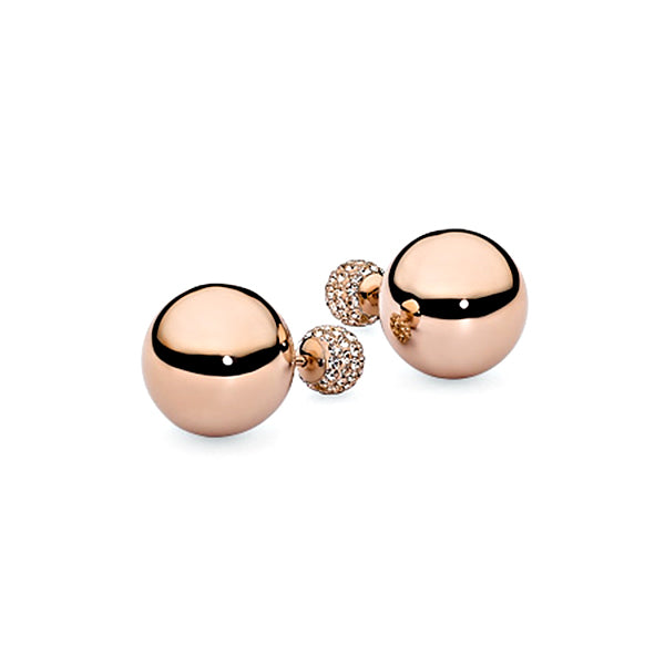 QUDO EARRINGS - ASTI - ROSE GOLD PLATED S/STEEL