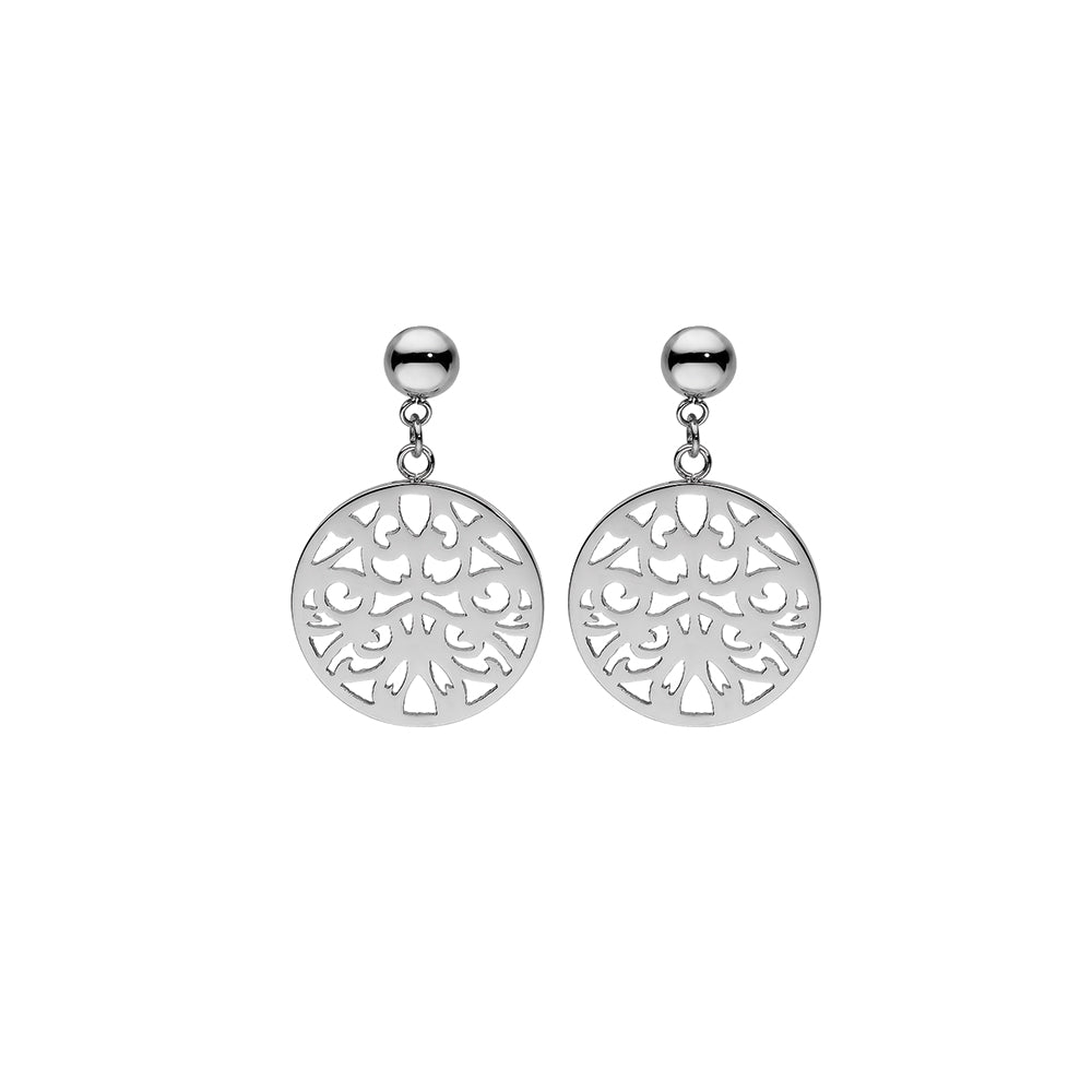 QUDO EARRINGS - CASCIA FLOWER - STAINLESS STEEL