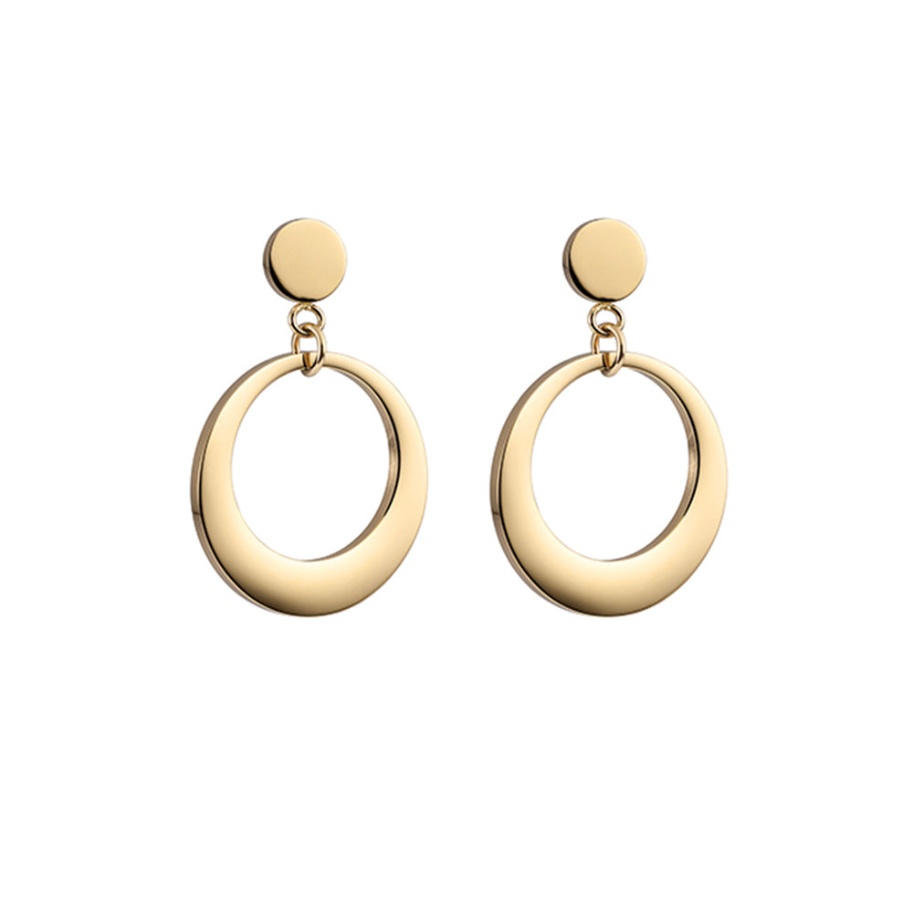 QUDO EARRINGS - ROSSANO - GOLD PLATED S/STEEL