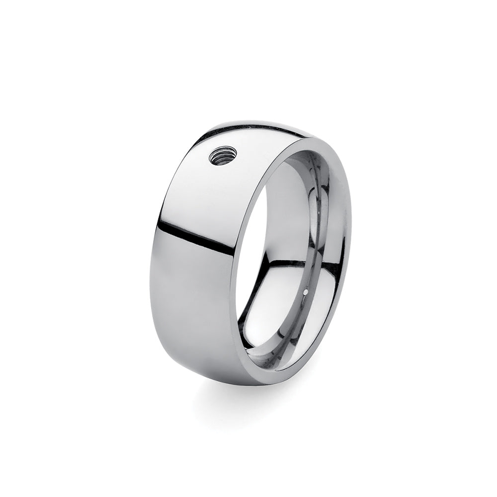 QUDO INTERCHANGEABLE BASE RING WIDE - STAINLESS STEEL