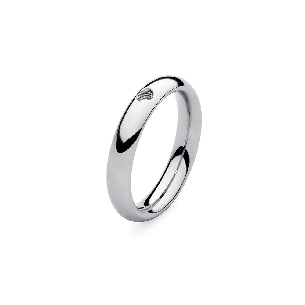 QUDO INTERCHANGEABLE BASE RING NARROW - STAINLESS STEEL