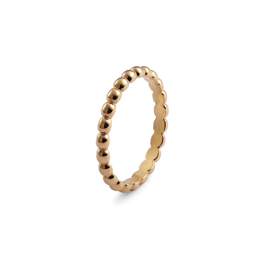 QUDO INTERCHANGEABLE MATINO SPACER RING - GOLD PLATED STAINLESS STEEL