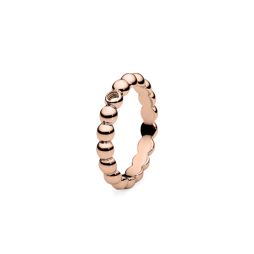QUDO INTERCHANGEABLE BASE RING VEROLI - ROSE GOLD PLATED STAINLESS STEEL