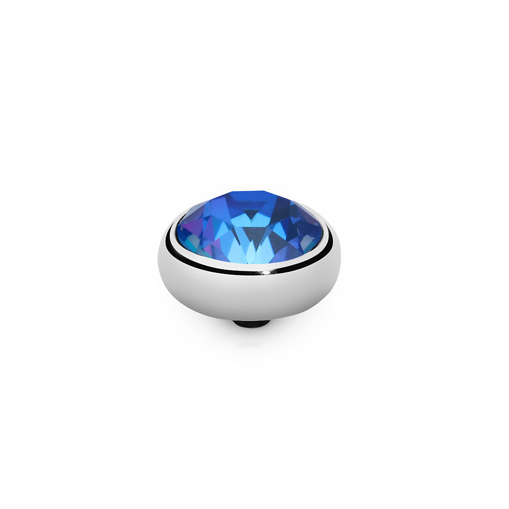 QUDO INTERCHANGEABLE SESTO TOP 10MM - ROYAL BLUE DELITE SWAROVSKI® CRYSTAL - STAINLESS STEEL