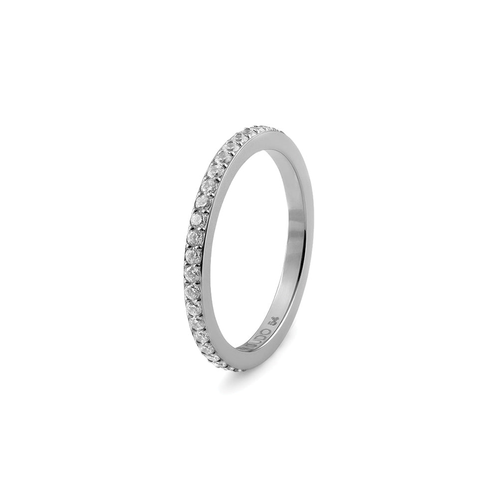 QUDO INTERCHANGEABLE ETERNITY SPACER RING -  STAINLESS STEEL