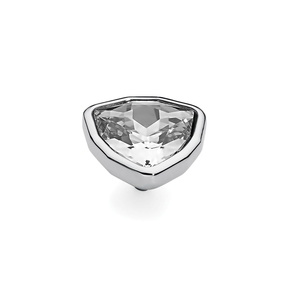 QUDO INTERCHANGEABLE TRIA LARGE TOP 14MM - SWAROVSKI® CRYSTAL - STAINLESS STEEL