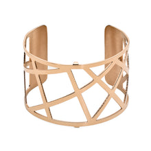 Load image into Gallery viewer, QUDO MY BANGLES - GEOMETRIC WIDE - ROSE GOLD