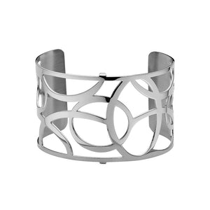 QUDO MY BANGLES - FLUID WIDE - STAINLESS STEEL