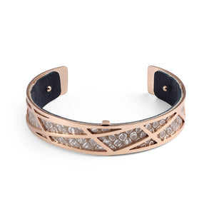 QUDO MY BANGLES - ZINCATO INSERT NARROW - LEATHER