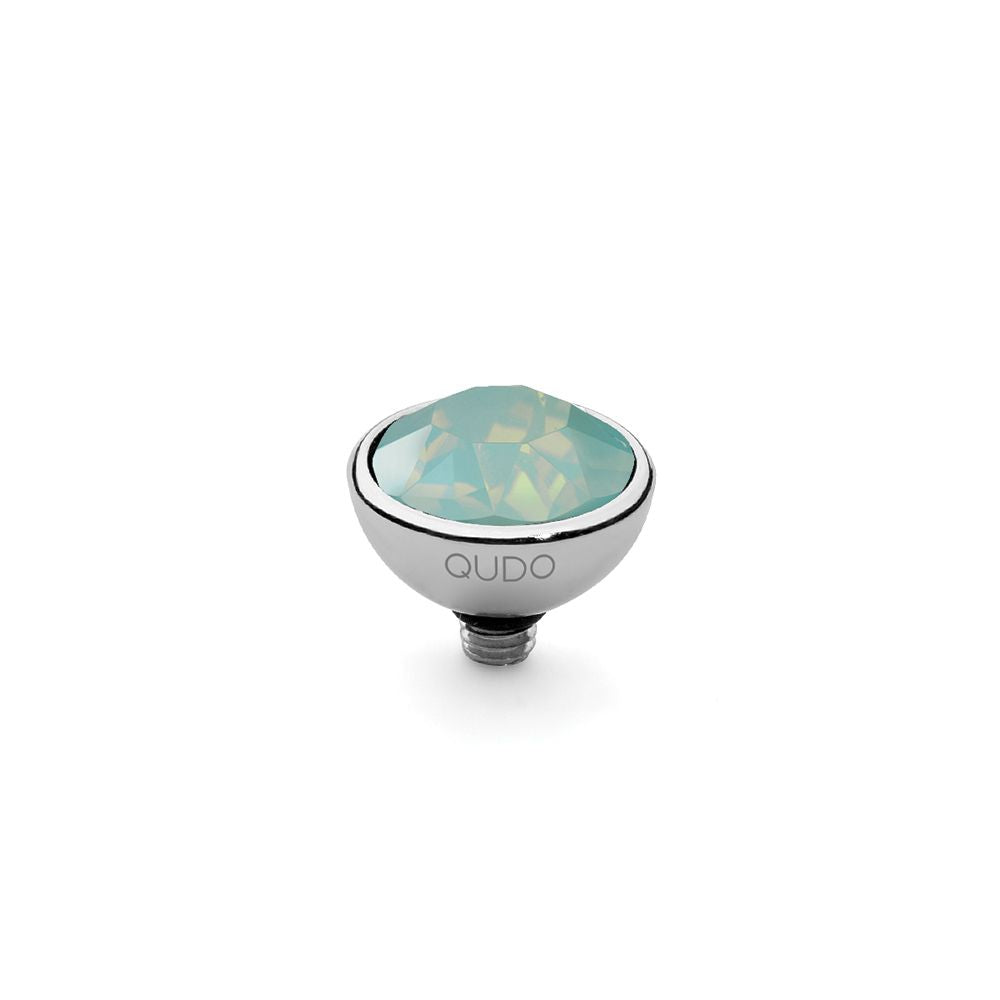 QUDO INTERCHANGEABLE BOTTONE TOP 10MM - PACIFIC OPAL SWAROVSKI® CRYSTAL - STAINLESS STEEL