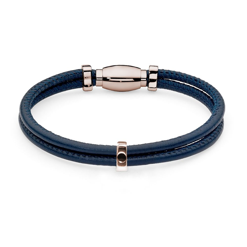 QUDO INTERCHANGEABLE BRACELET - ROSE GOLD AND LEATHER