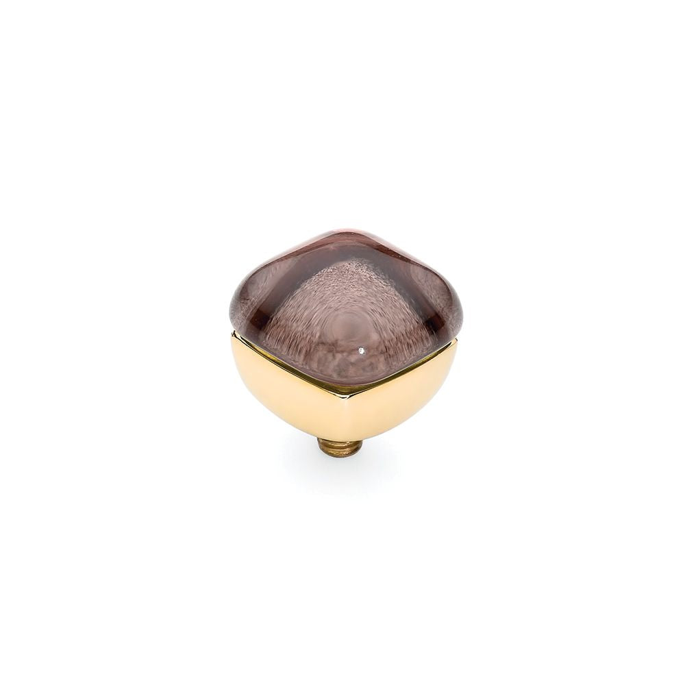 QUDO INTERCHANGEABLE ASCONA TOP 10MM - LIGHT AUBERGINE - GOLD PLATED