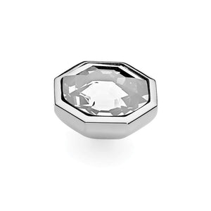QUDO INTERCHANGEABLE OTTO LARGE TOP 16MM - SWAROVSKI® CRYSTAL - STAINLESS STEEL