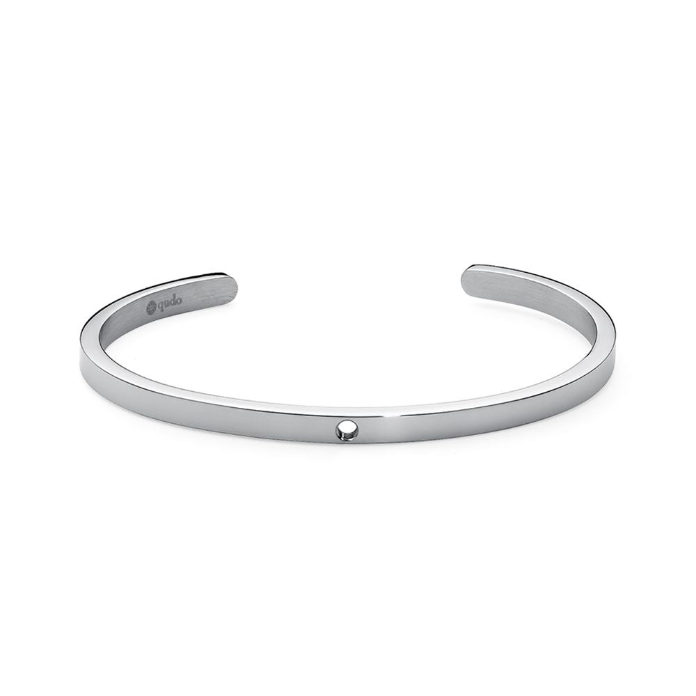 QUDO INTERCHANGEABLE BANGLE - STAINLESS STEEL