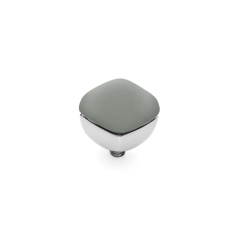 QUDO INTERCHANGEABLE ASCONA TOP 10MM - LIGHT GREY OPAL - STAINLESS STEEL