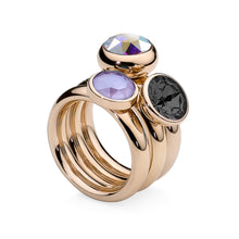 Load image into Gallery viewer, QUDO INTERCHANGEABLE SESTO TOP 10MM - AURORA BOREALE SWAROVSKI® CRYSTAL - ROSE GOLD PLATED