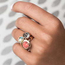 Load image into Gallery viewer, QUDO INTERCHANGEABLE TONDO 13MM TOP - CORAL SWAROVSKI® CRYSTAL - STAINLESS STEEL