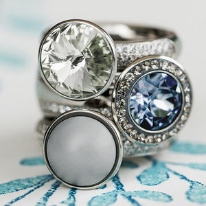 QUDO INTERCHANGEABLE BASE RING DELUXE - STAINLESS STEEL WITH CZ