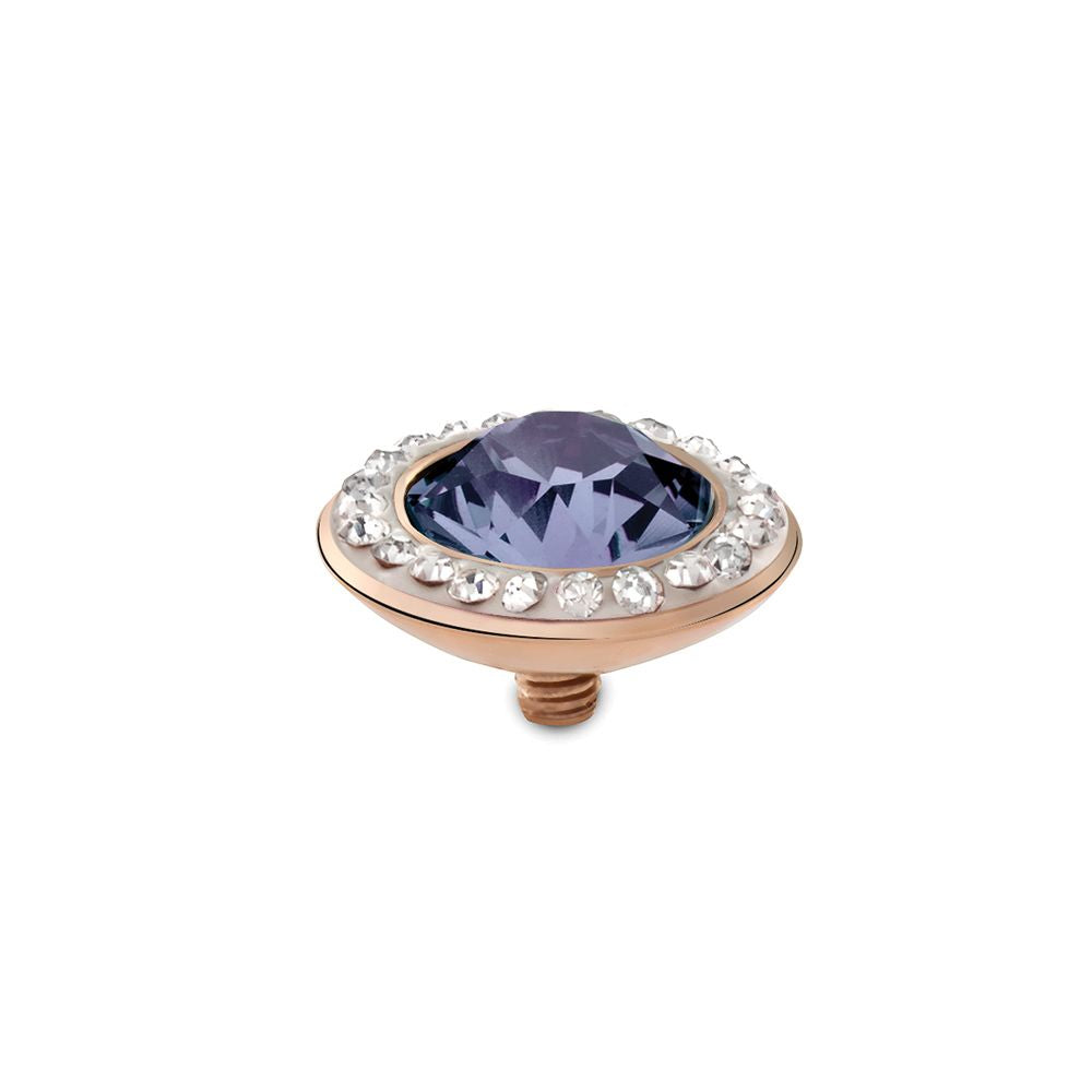 QUDO INTERCHANGEABLE TONDO DELUXE TOP 13MM - PROVENCE LAVENDER SWAROVSKI® CRYSTAL - ROSE GOLD PLATED