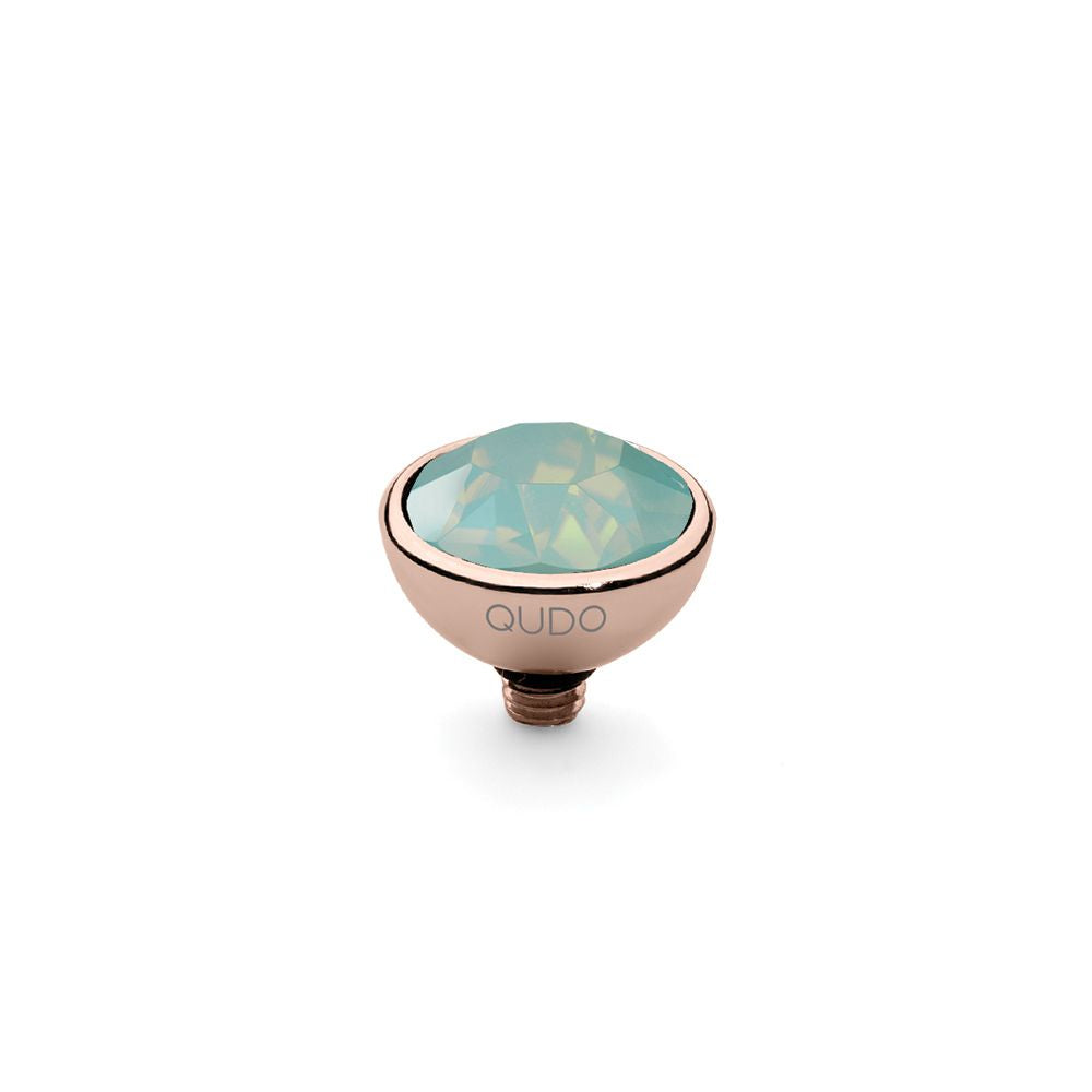 QUDO INTERCHANGEABLE BOTTONE TOP 10MM - PACIFIC OPAL SWAROVSKI® CRYSTAL - ROSE GOLD PLATED