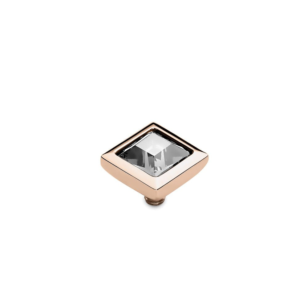 QUDO INTERCHANGEABLE QUADRA TOP 9MM - SWAROVSKI® CRYSTAL - ROSE GOLD PLATED