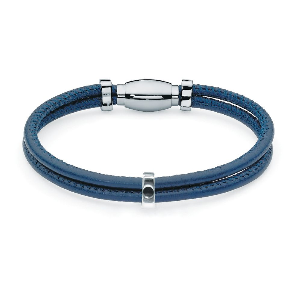 QUDO INTERCHANGEABLE BRACELET - STAINLESS STEEL AND LEATHER