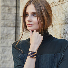 Load image into Gallery viewer, QUDO MY BANGLES - STRIPE WIDE - ROSE GOLD