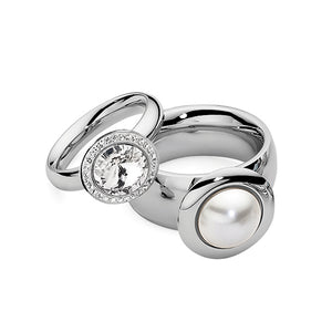 QUDO INTERCHANGEABLE TONDO DELUXE TOP 13MM - SWAROVSKI® CRYSTAL - STAINLESS STEEL