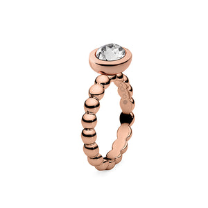 QUDO INTERCHANGEABLE PIAVE TOP 9x11MM - SWAROVSKI® CRYSTAL - ROSE GOLD PLATED
