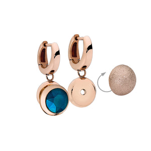 QUDO INTERCHANGEABLE SENZA TOP 10MM - ROSE GOLD SPARKLE - ROSE GOLD PLATED