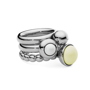 QUDO INTERCHANGEABLE BASE RING VEROLI - STAINLESS STEEL