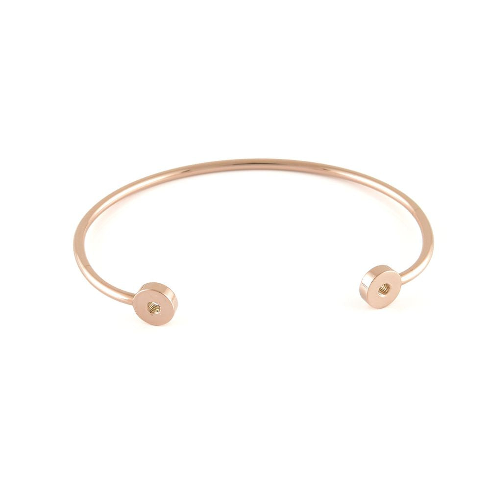 QUDO INTERCHANGEABLE BANGLE (DOUBLE) - ROSE GOLD PLATED S/STEEL