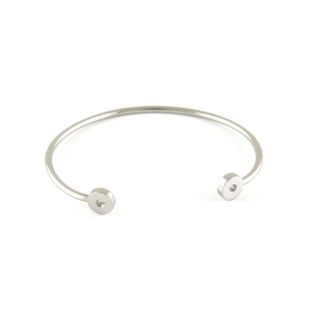 QUDO INTERCHANGEABLE BANGLE (DOUBLE) - STAINLESS STEEL