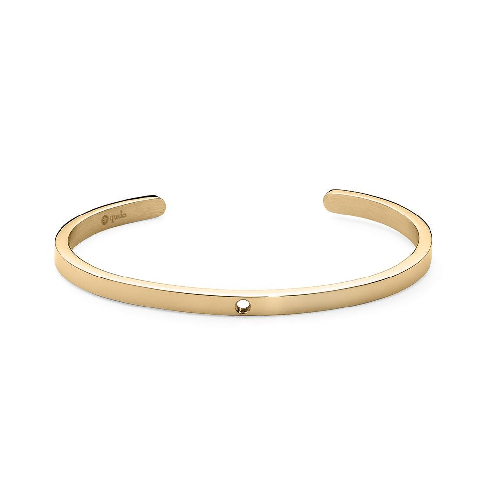 QUDO INTERCHANGEABLE BANGLE - GOLD PLATED S/STEEL